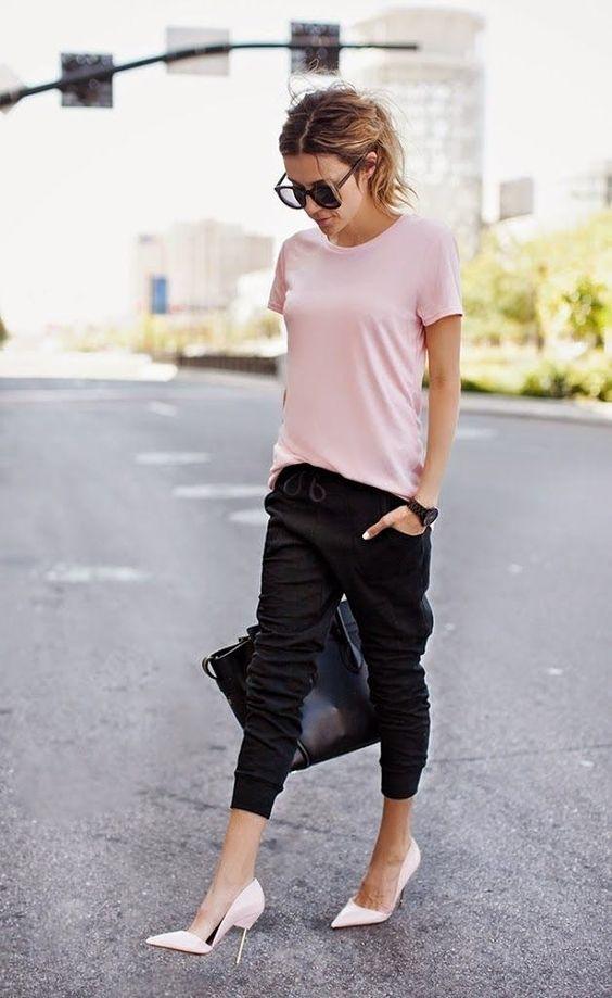 calça jogging pants - como usar - no trabalho.
